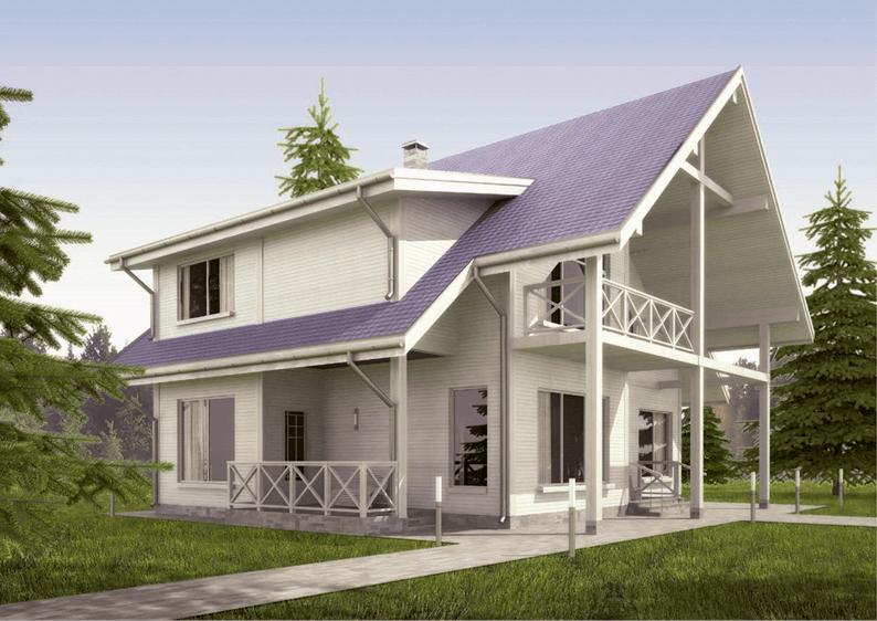 Проект каркасного дома площадью 178 м2