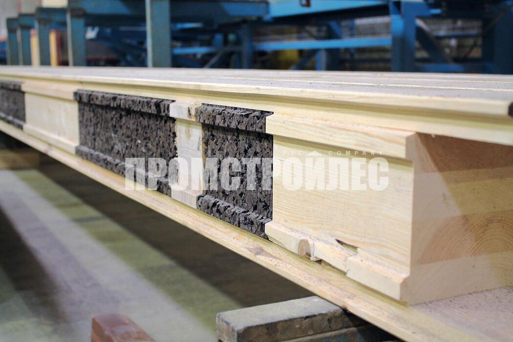 Производство утепленного клееного бруса с пробкой дуба «Corkbeam»
