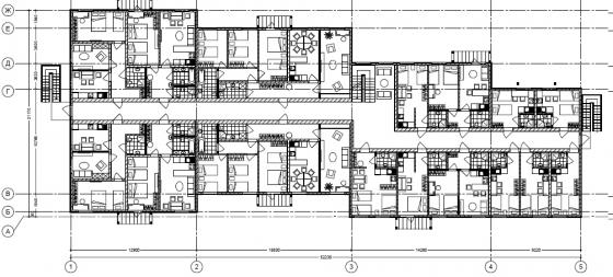 план 2 этажа отеля