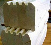 Заполнение фахверковых стен клееным брусом