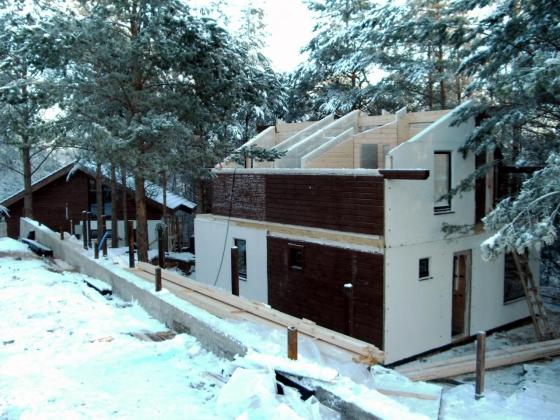 Процесс строительства дома под фахверк стиль