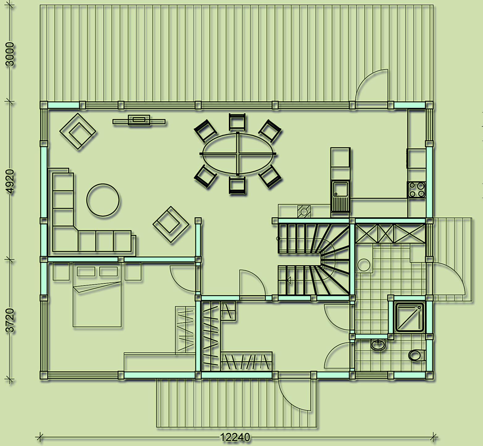 первый этаж фахверкового дома общей площадью 210 кв.м