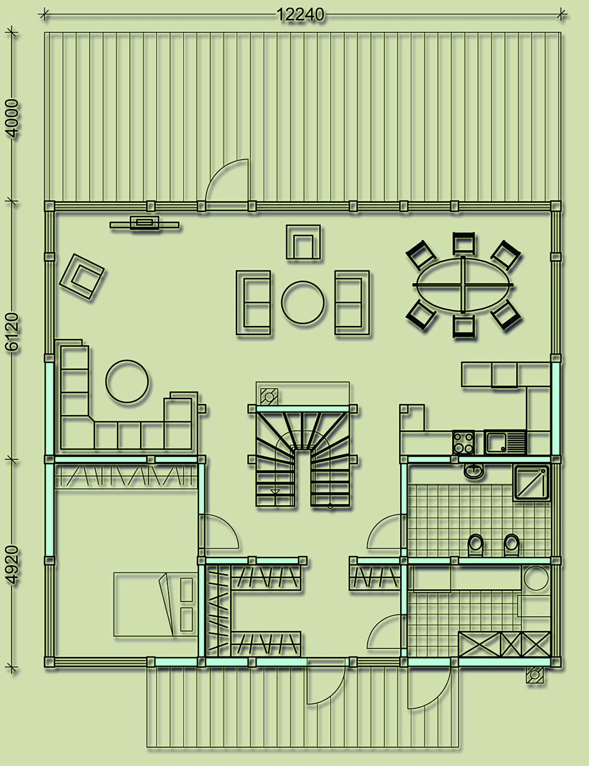 первый этаж фахверкового дома общей площадью 270 кв.м