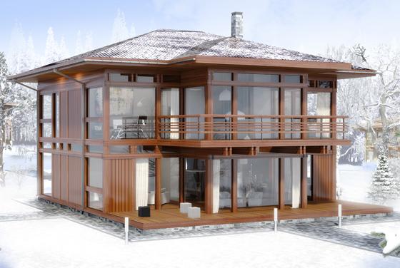 двухэтажный фахверковый дом Вальма