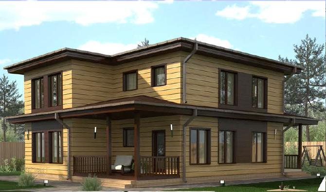 проект быстровозводимого модульного дома 205 кв. м