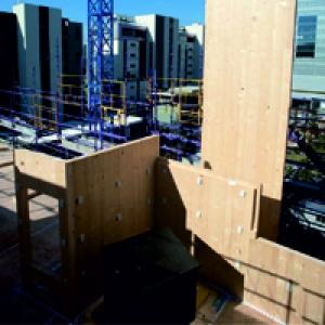 Многоэтажное строительство из деревянных стеновых панелей