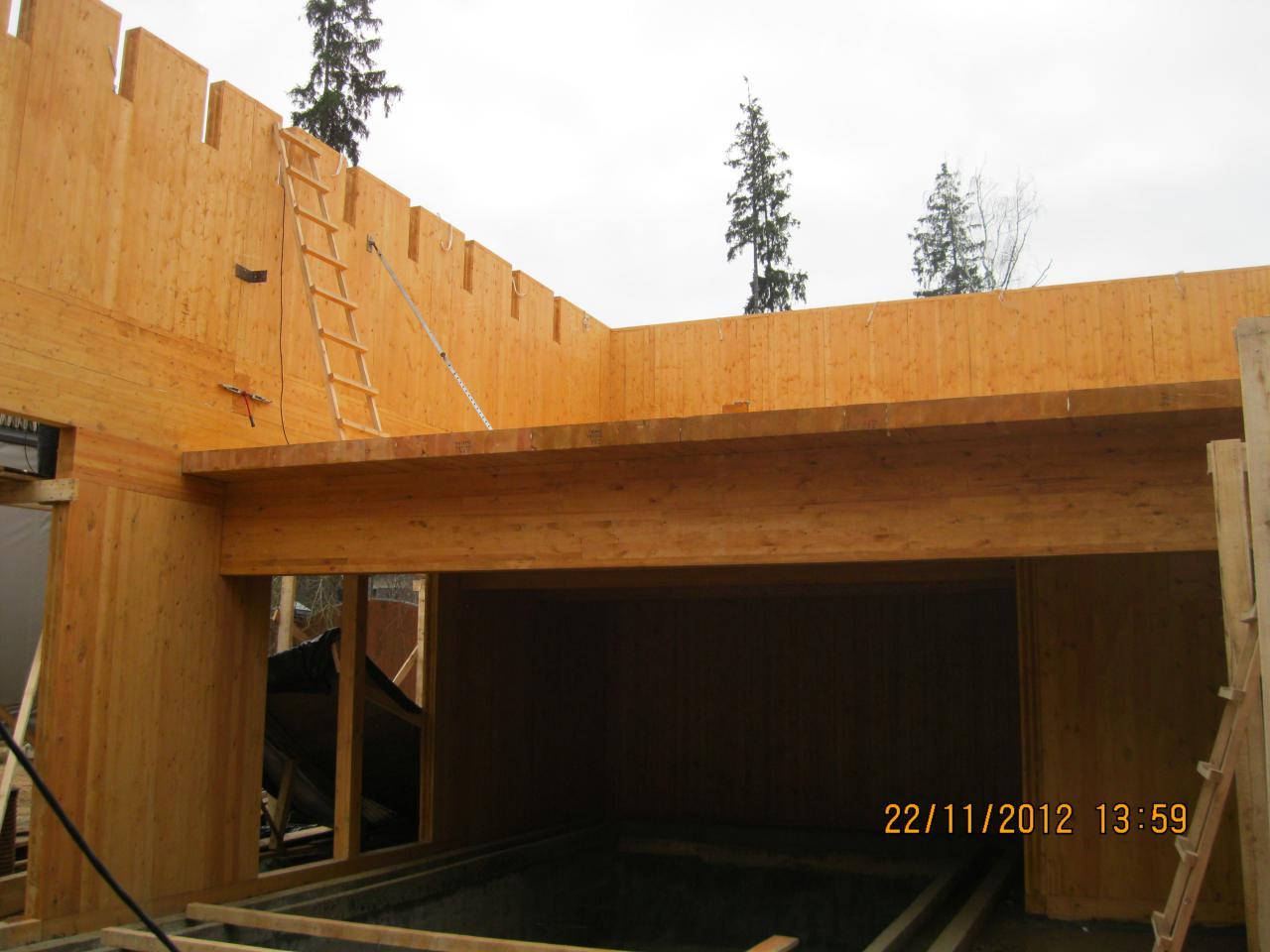 строительство панельного деревянного дома