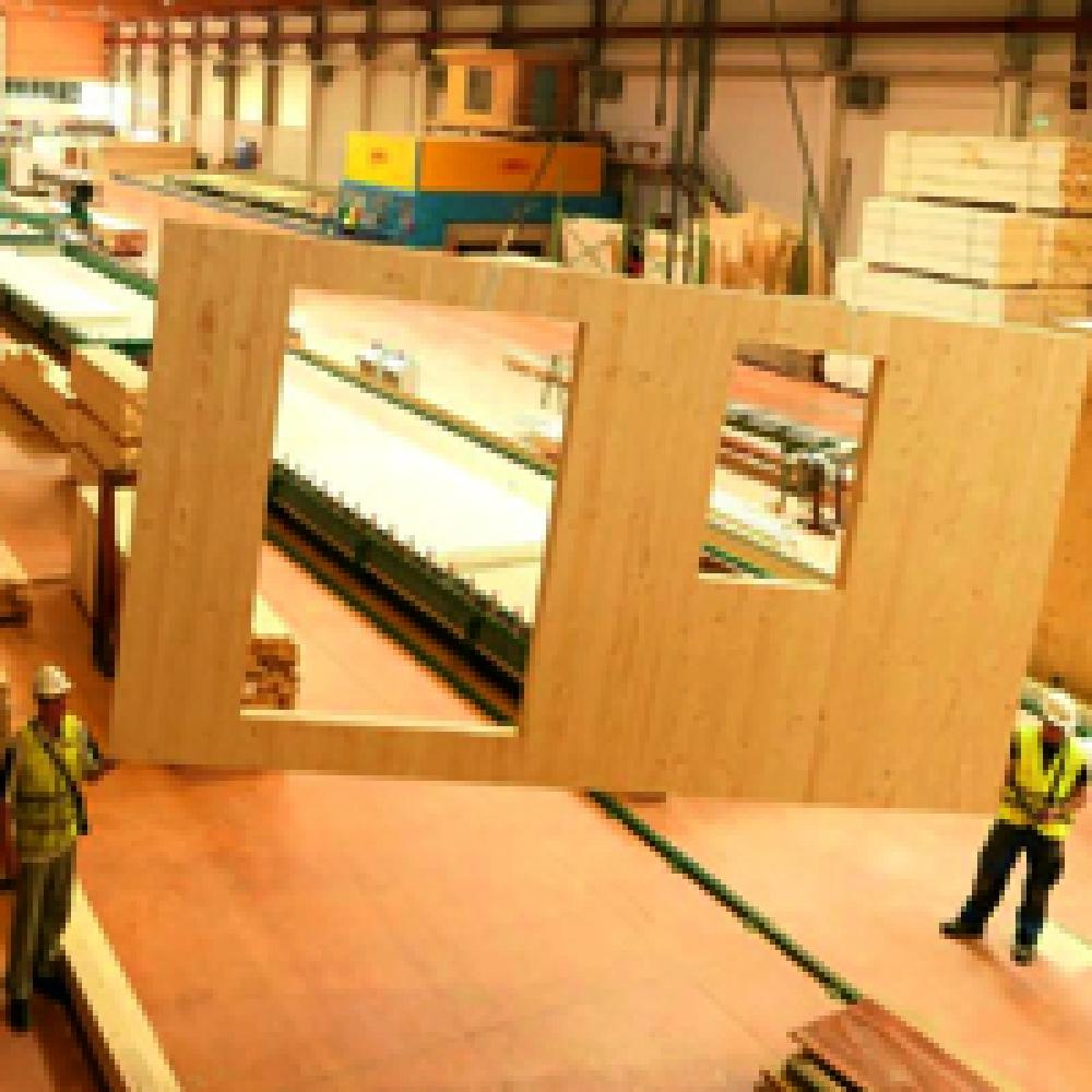 Производство стеновых панелей из клееных деревянных деталей в Санкт-Петербурге