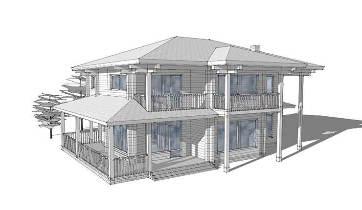 Разработка дизайн-проектов деревянных домов