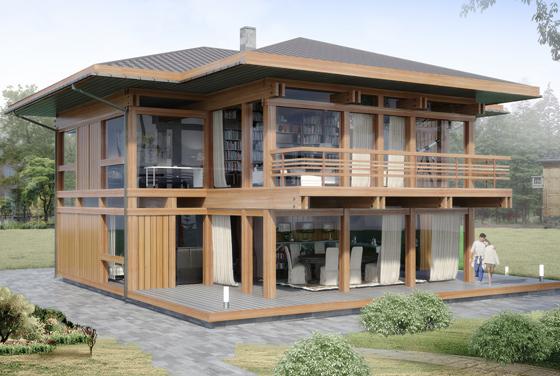 загородный дом в стиле фахверк Вальма