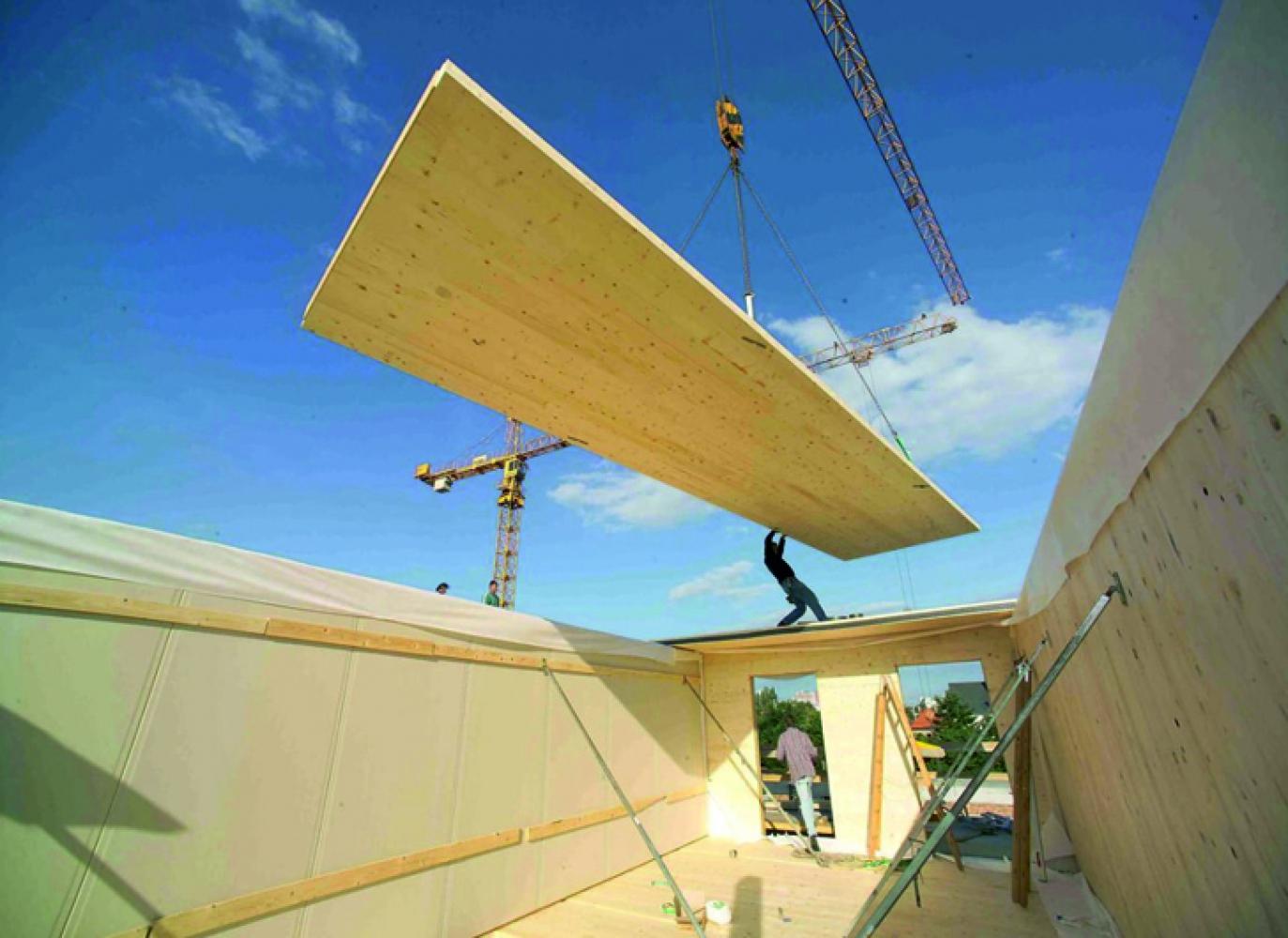 Производство CLT панелей для деревянного многоэтажного домостроения в Спб