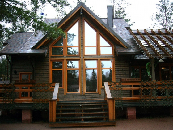 дом из клееного бруса - сборка