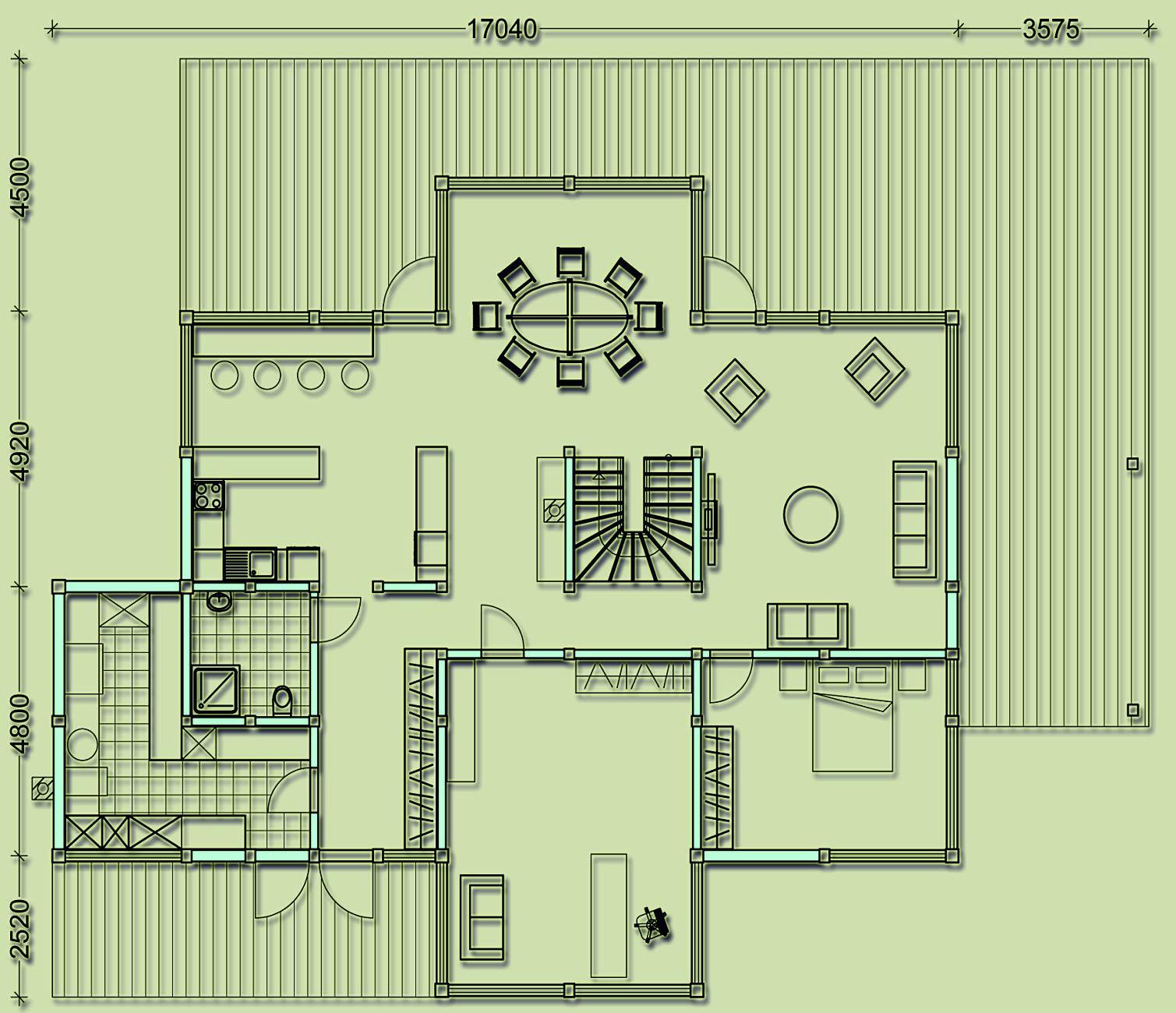 первый этаж фахверкового дома общей площадью 360кв.м