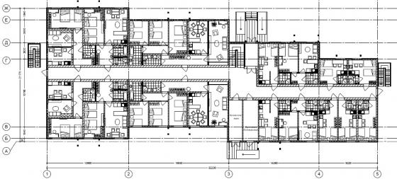 план 1 этажа отеля