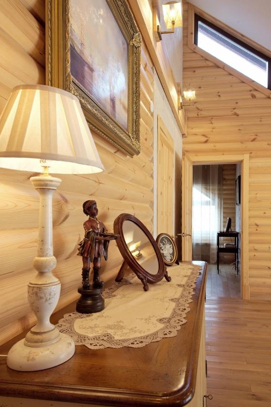 Фото интерьера дома из бруса