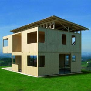Строительство из стеновых деревянных панелей CLT
