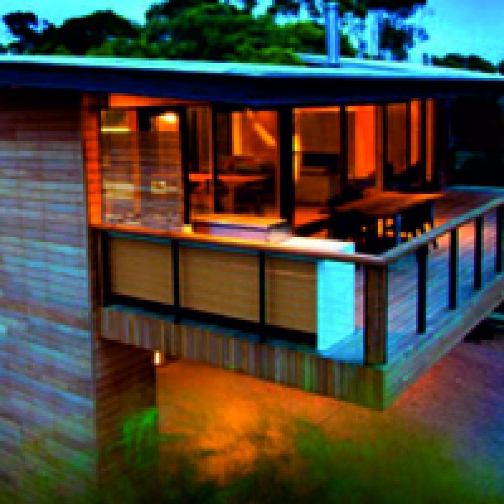 Вид снаружи дома, выполненного из CLT панелей
