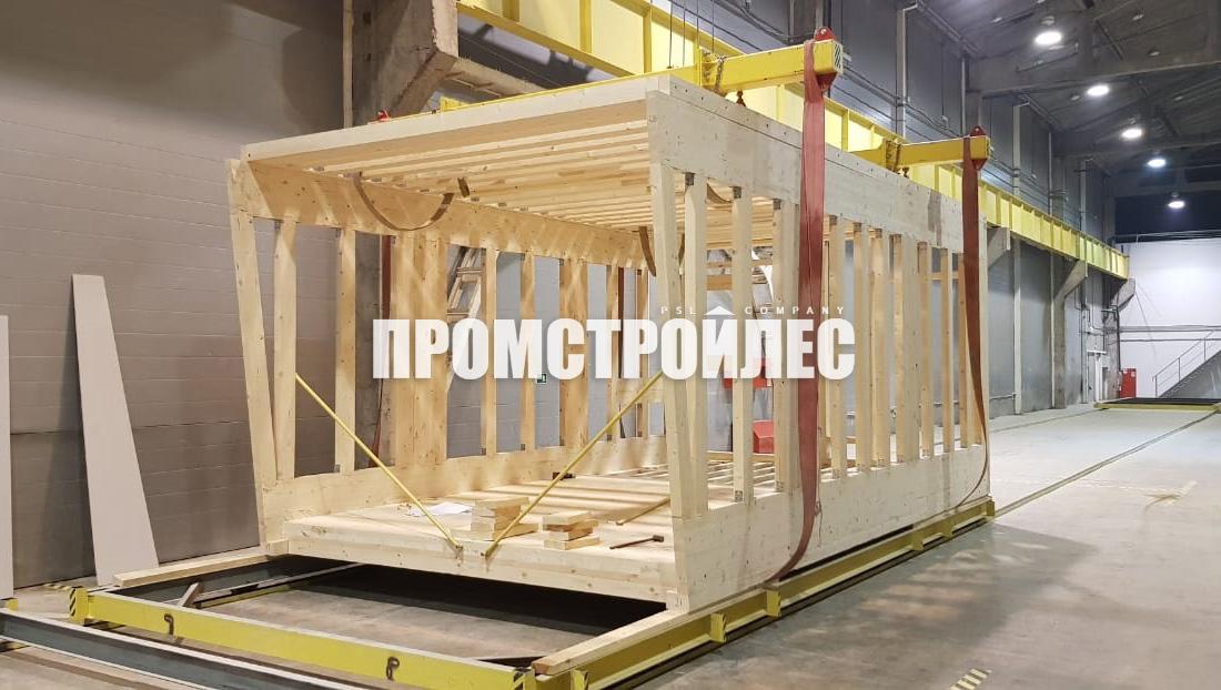 Производство модульного дома Промстройлес
