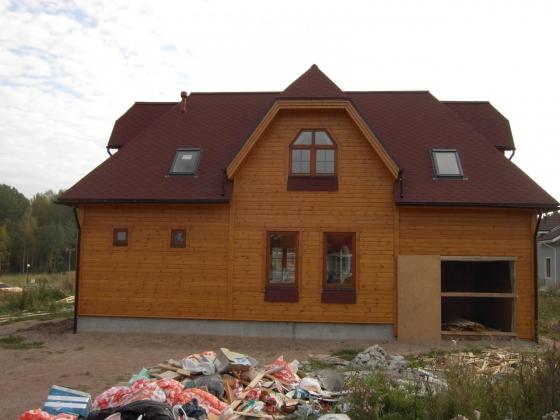 Усадка дома из профилированного клееного бруса